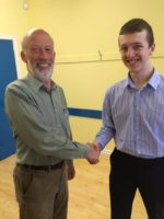 Scott Moore of Strabane Academy is pictured with Alliance leader David Ford.
